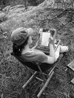 Lisa Lebofsky at work