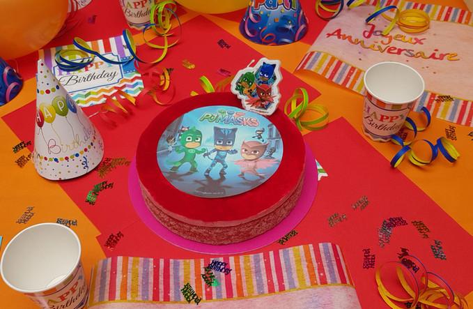 Gâteau personnalisé Fleur de Pains PJ Mask