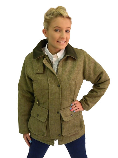 English Ladies Wool Tweed Padded Jacket