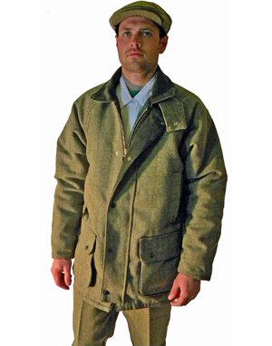 English Mens Wool Tweed Padded Jacket