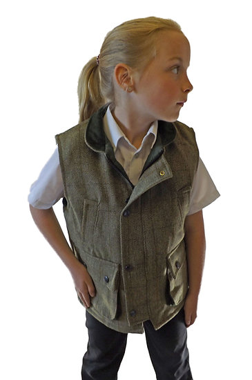 Childs Green Tweed Waistcoat