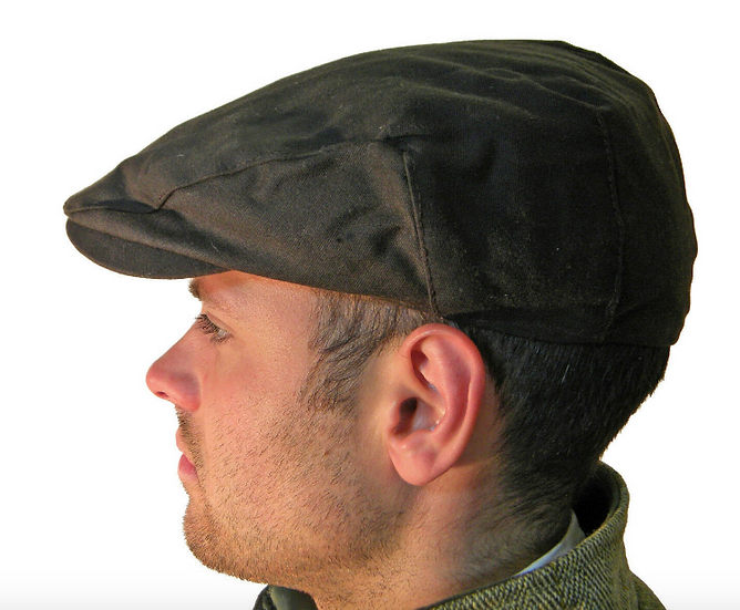 Wax Cotton Flat Cap