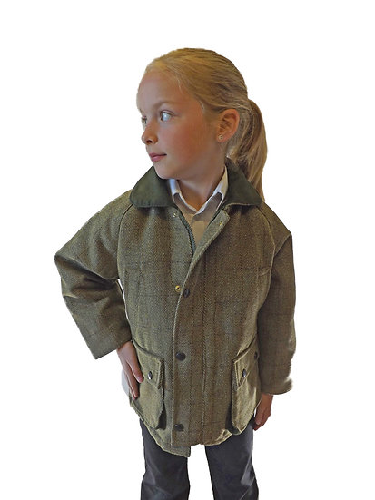Childs Green Tweed Jacket