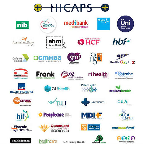 HICAPS REBATES REMEDIAL MASSAGE, MYOTHERAPY, GYM MEMBERSHIP, PHYSIOTHERAPY, CHIROPRACTOR, ACUPUNCTURE, MEDIBANK, BUPA, NIB, AHM, AUSTRALIAN UNITY, AHM, HCF
