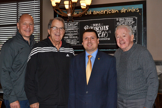 Coach Loyd, Bob Popp, and XDAF Board Member, Rick Popp
