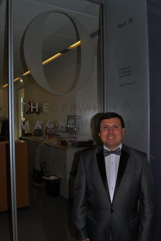 Xavier at the Oprah Magazine offices
