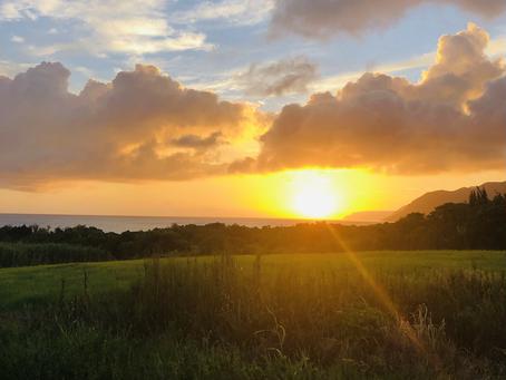 台風前の夕日はとても綺麗です。✨西表島