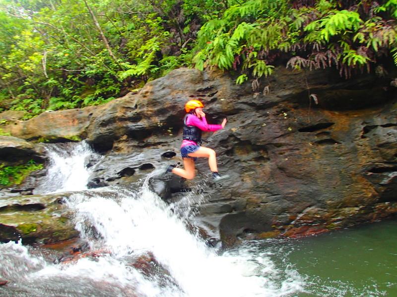 西表ツアーおすすめ人気のカヌーでマングローブを漕いでジャングル探検トレッキングで秘境の滝巡り、午後からはシャワートレッキングでゲータの滝を目指します。大自然のエナジーを体感しよう。石垣島から日帰り参加もOK!です。