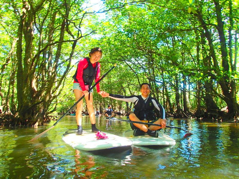 夏休み旅行で人気の石垣島・西表島で遊ぶなら、西表島ツアーランキングおすすめの西表島ケンガイドが人気のアクティビティツアー体験をご案内。SUP・スタンドアップパドルボード・カヌーでクルーズ&トレッキングでジャングル探検!アドベンチャーボートで楽園パナリ島シュノーケリングツアーで遊びつくそう!