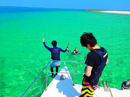 ヨットクルーズでパナリ島シュノーケル