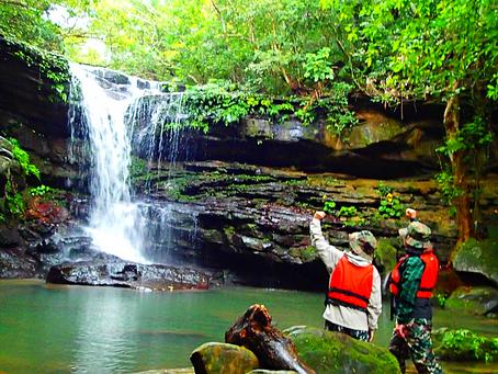 島旅で秘境の滝へ行ってみよう✨西表島カヌーツアー