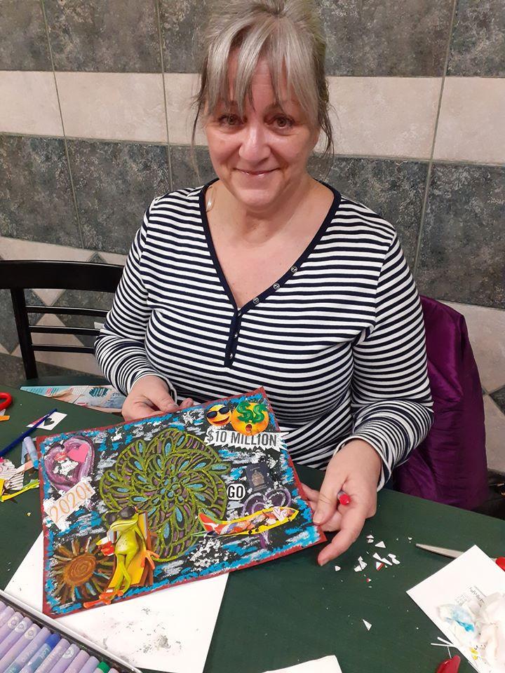 Soirée peinture avec Christine Paris (janvier 2020)