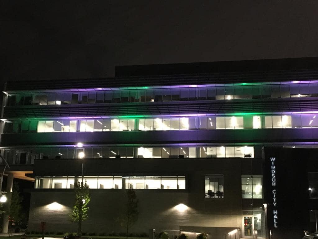 Illumiations 2018 (Hôtel de Ville à Windsor)