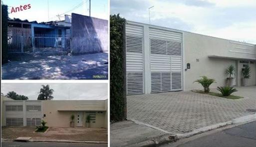 Antes e depois - Fachada