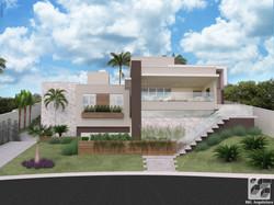 Casa em terreno inclinado