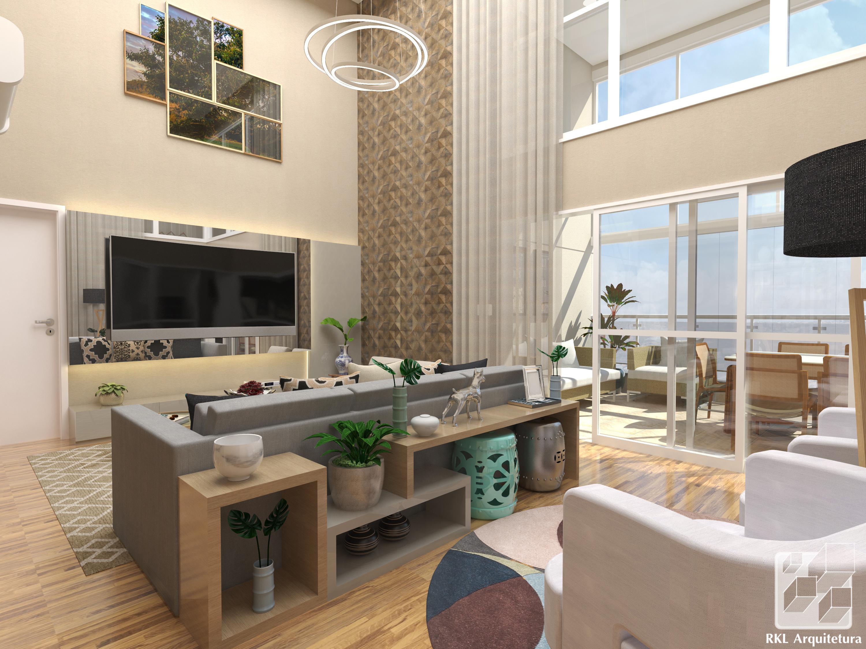 Apartamento com pé-direito duplo