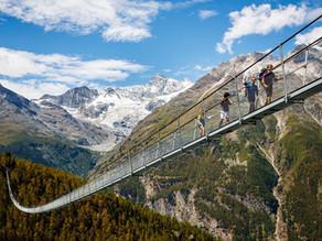Längste Fussgängerbrücke der Alpen - 494 Meter