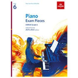 Piano Exam Pieces ABRSM Grade 6 - 2021/2022 Syllabus