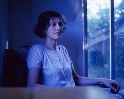 Nicola in bungalow