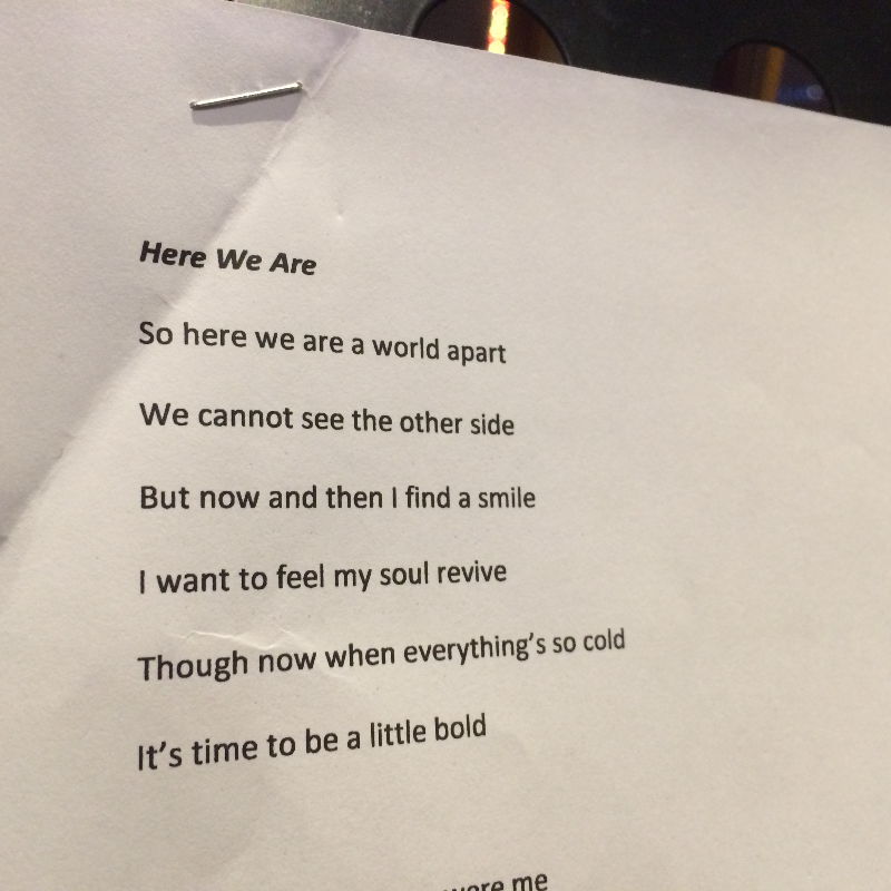 Lyrics for Here We Are