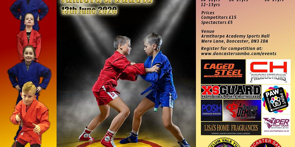 Yorkshire Sambo Open - Juniors & Cadets 13th June 2020