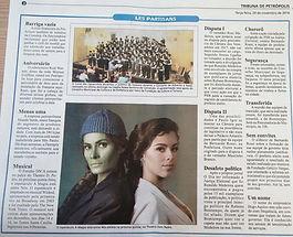 Tribuna de Petrópolis destaca o espetáculo inspirado em Wicked, promovido pelo estúdio DN'A, com caracterização de Necessaire Fashion
