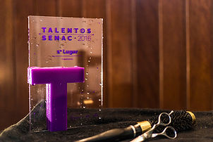Troféu do Premio Talentos Senac 2016