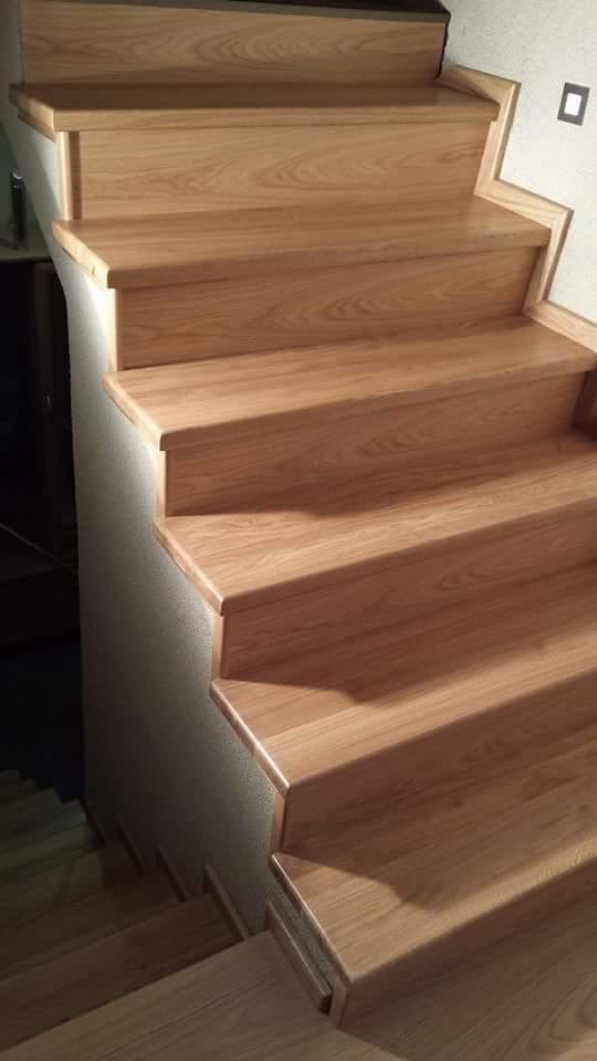 Naturalne schody dębowe