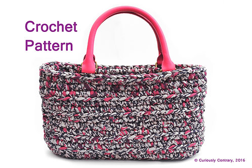 Crochet Pattern - Tote Bag - T shirt Yarn