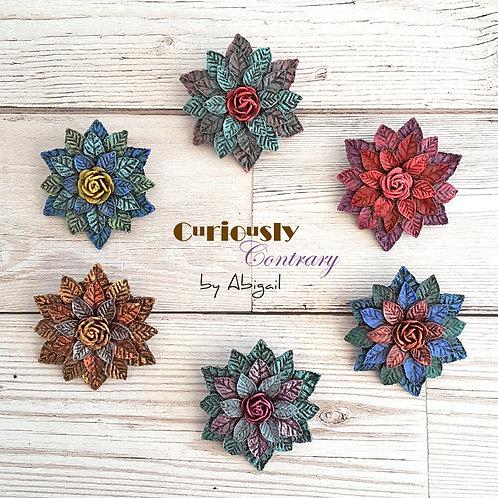 Flower Brooch/Badge - Custom Order