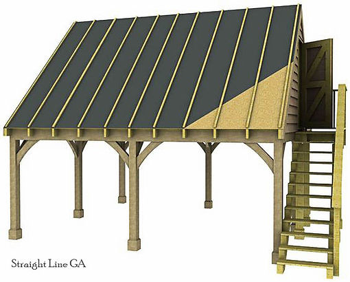 pole barn wit upstairs loft
