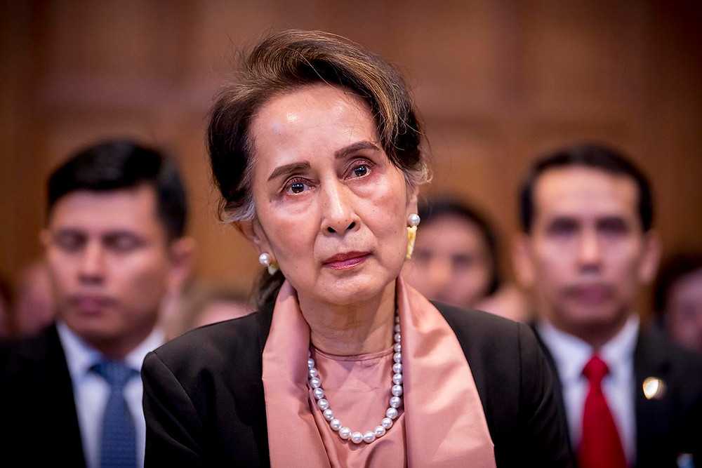 Aung San Suu Kyi of Myanmar at the International Court of Justice on December 10, 2019. (Photo credit: ICJ)