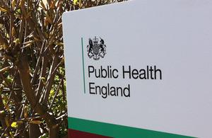 Public Health England sign