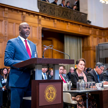 """The Gambian who took """"The Lady"""" to The Hague"""