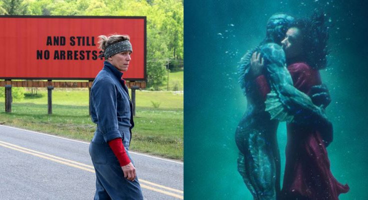 A sea monster versus three billboards - Oscar night battles