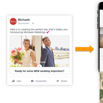 Michaels Wedding Facebook Instant Experience