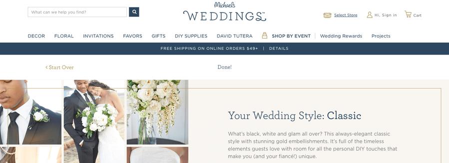 Wedding Quiz Results - Classic