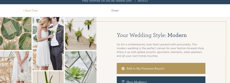 Wedding Quiz Results - Modern