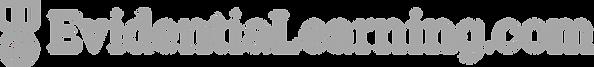 EvidentiaLearning logo OneLine grey45.pn