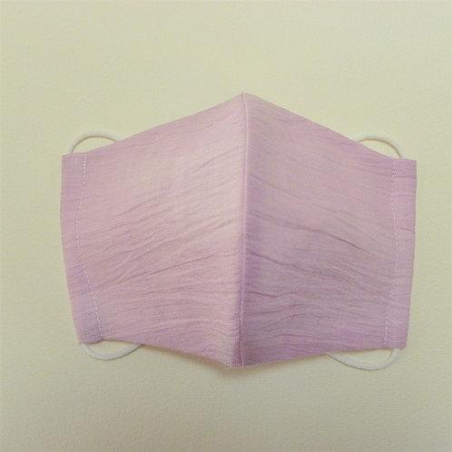 浴衣地マスク 手もみ麻ピンク