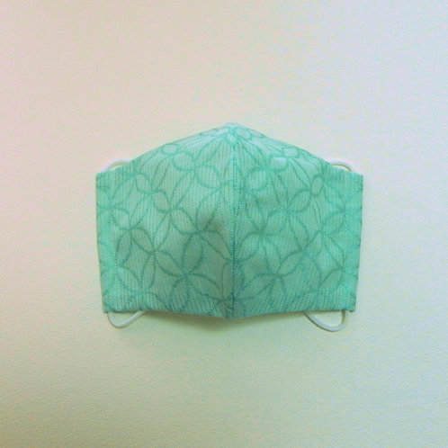浴衣地マスク 綿絽箔小紋 七宝
