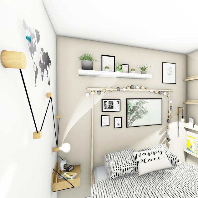 Aménagement et décoration d'une chambre zen ambiance naturel à Toulon par votre architecte d'intérieur Mosser Intérieur Design dans le Var
