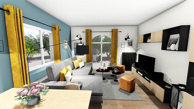 Agencement, aménagement et décoration d'un salon séjour industriel moderne à Ollioules, par l'architecte décorateur d'intérieur Mosser Intérieur Design, dans le Var