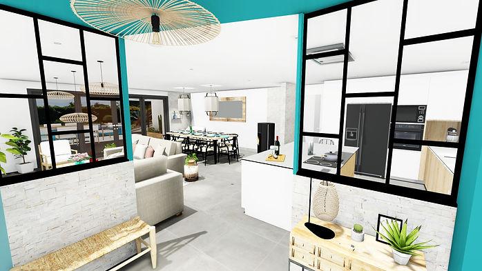 Aménagement agencement et décoration d'un salon à Garéoult, par l'architecte décorateur d'intérieur Mosser Intérieur Design dans le Var
