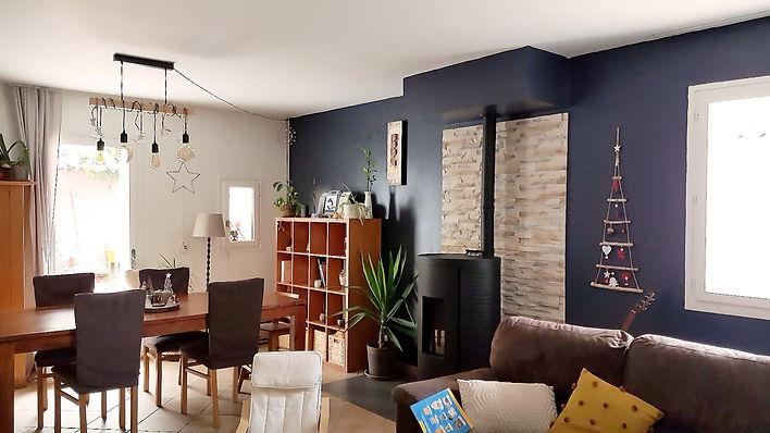 Aménagement, agencement et décoration d'un salon style it Dark, bleu foncé, par l'architecte décorateur d'intérieur Mosser Intérieur Design dans le Var