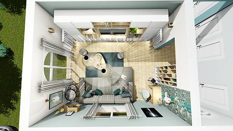 Prestation d'aménagement et de décoration intérieur d'un salon séjour scandinave, par la décoratrice d'intérieur Mosser Intérieur Design dans le Var