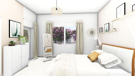 Aménagement et décoration d'une chambre rose nude, par l'architecte décorateur d'intérieur Mosser Intérieur Design dans le Var