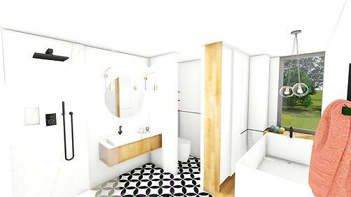 Prestation d'architecture intérieur, Aménagement agencement et décoration d'un salon, séjour, cuisine moderne, par l'architecte décorateur d'intérieur Mosser Intérieur Design dans le Var