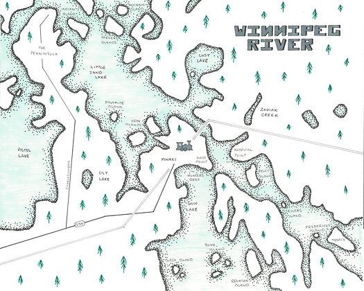 Winnipeg River 8x10