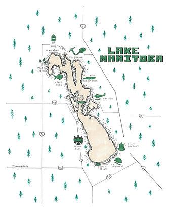 Lake Manitoba 8x10